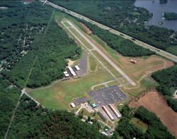 Aerial Mansfield Airport